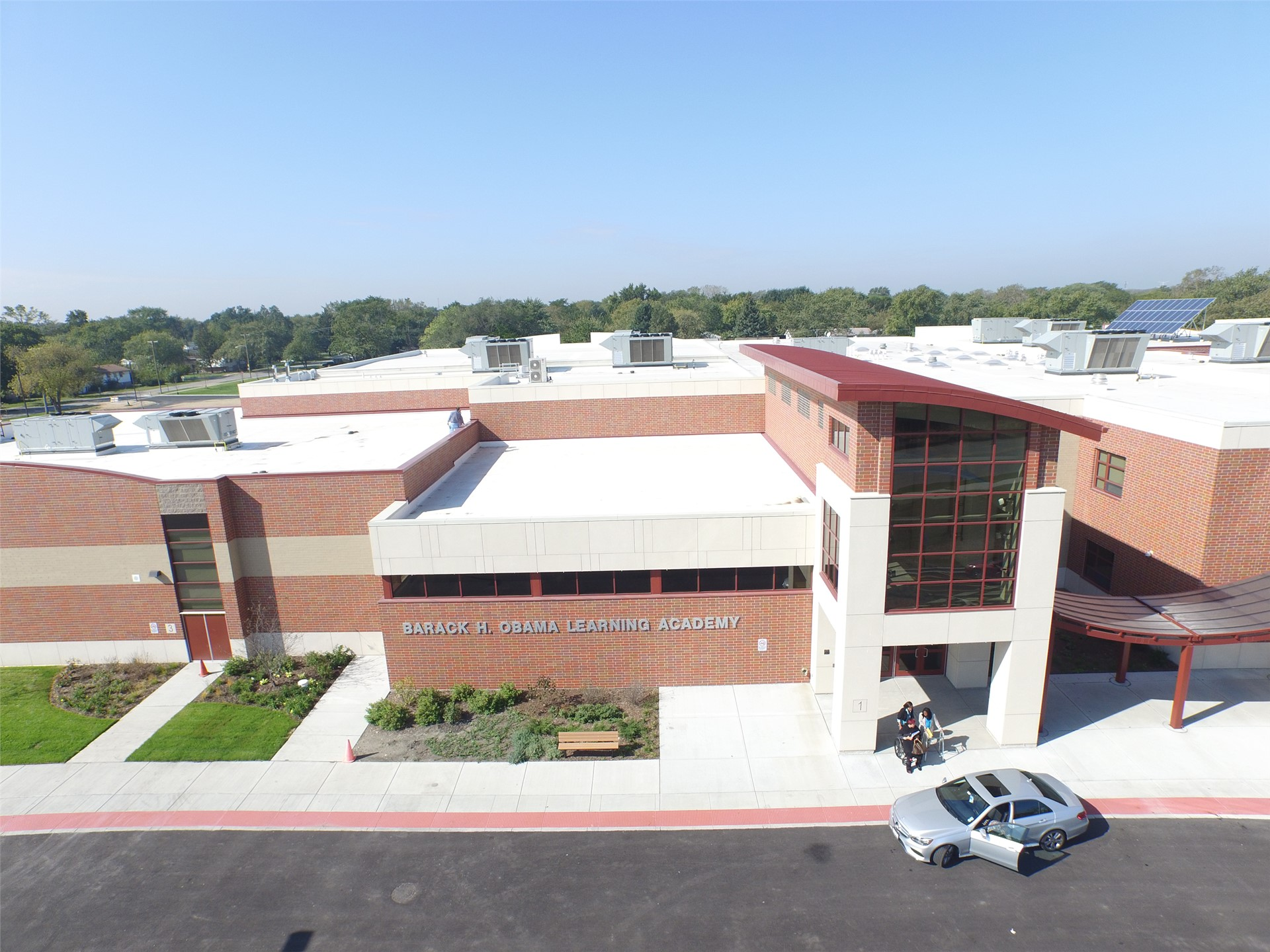 Jesse White Learning Academy aerial view