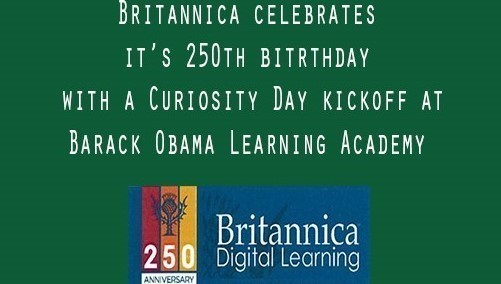 Britannica celebrates 250th birthday @ Barack Obama Learning Academy