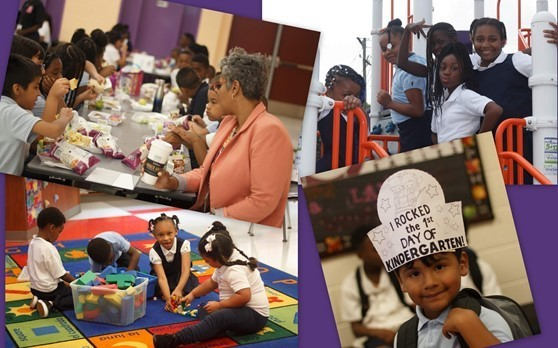Images from the first day of school at Barack Obama Learning Academy