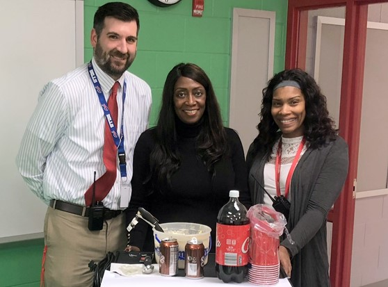 Jesse White Administrators show love for the staff by making them Root Beer floats