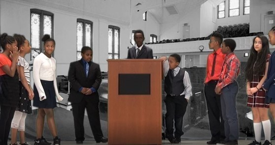 6th grade teachers & students from JWLA produce and perform a MLK inspired movie for MLK Day