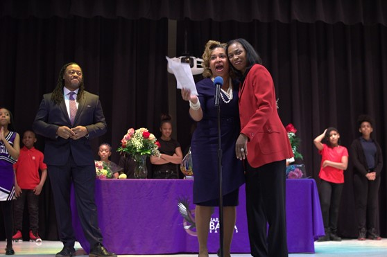 Dr. William's was honored for her many years of service during the annual Women's Day program.