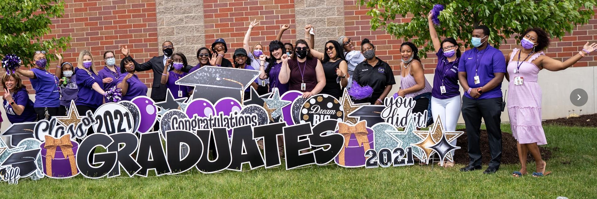 Teachers & staff celebrate 2021 graduates